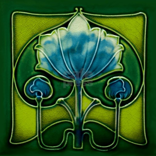 Art Nouveau Abstract Flower