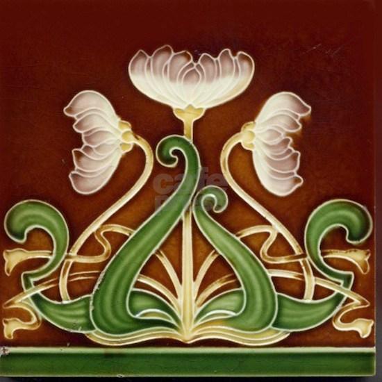 Art Nouveau Majolica Tile 1905