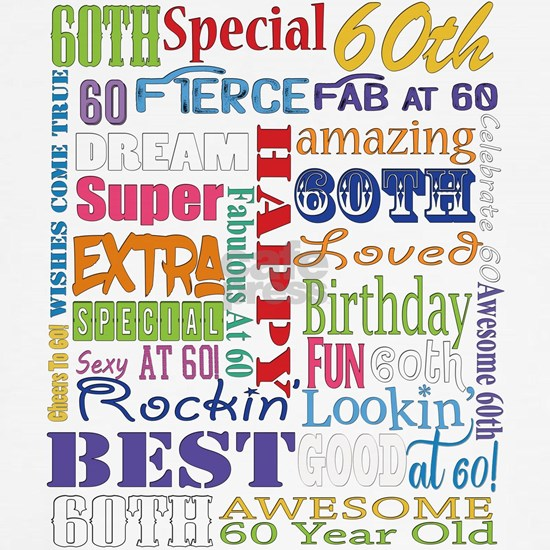 60th Birthday Typography