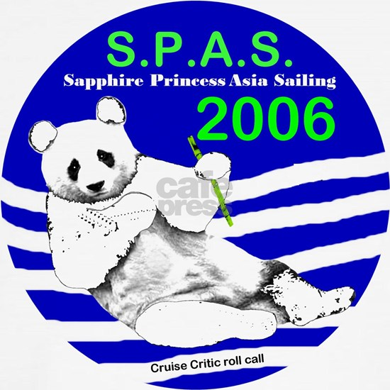 Sapphire S.P.A.S. Logo for Black T-shirt