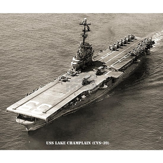 uss lake champlain cvs framed panel print