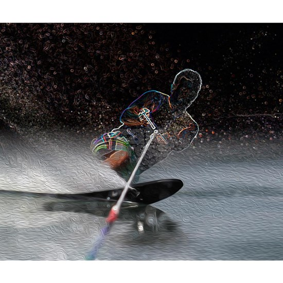 Slalom Waterskiing