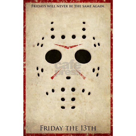 Friday the 13th Minimalist Poster Design