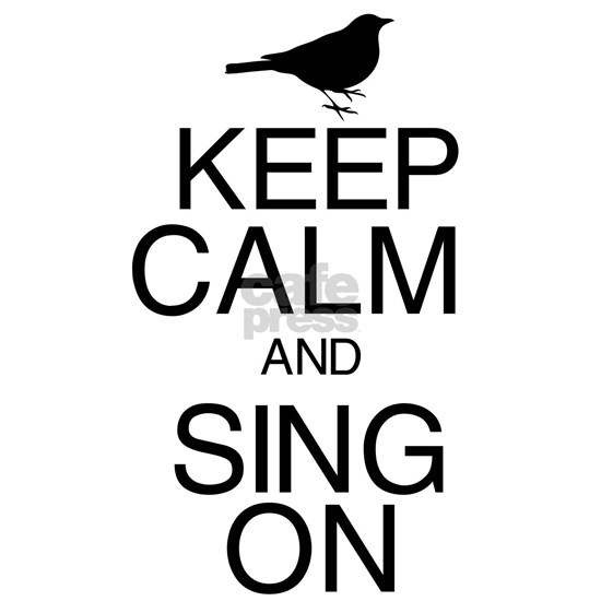 Keep Calm Bird Black