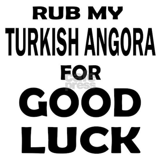 Rub my Turkish Angora for good luck Mousepad
