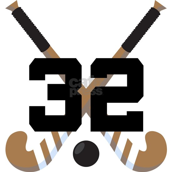 Field Hockey Player Number 32