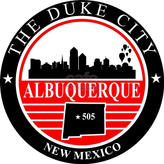 Albuquerque logo black and red