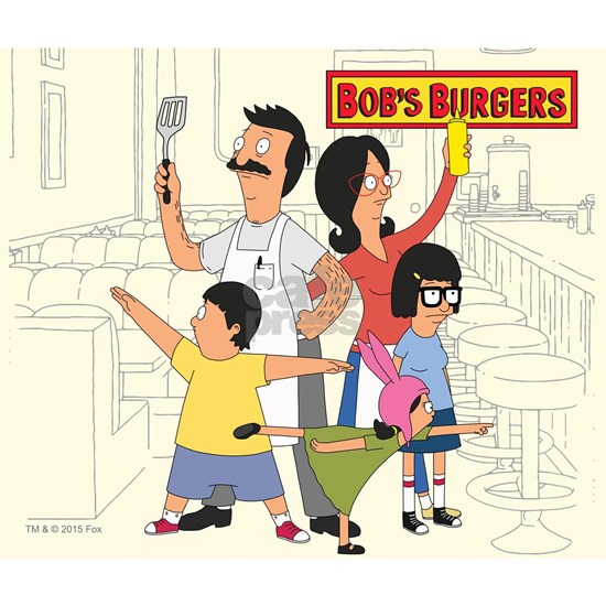 Bob's Burger Hero Family Mouse Pad