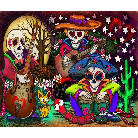 Day of the Dead Music art by Julie Oakes