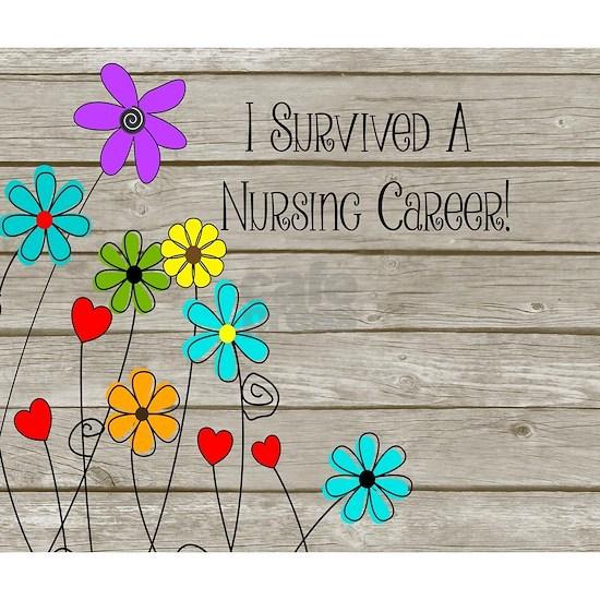Retired Nurse Floral Brown