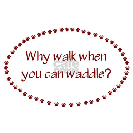why walk when you can waddle shirt