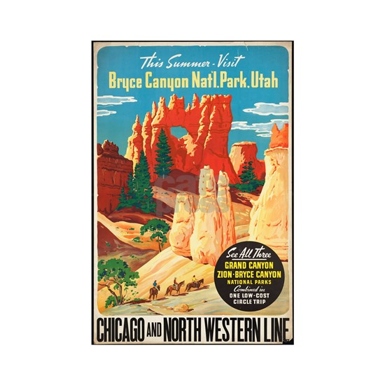 Bryce Canyon Vintage Art