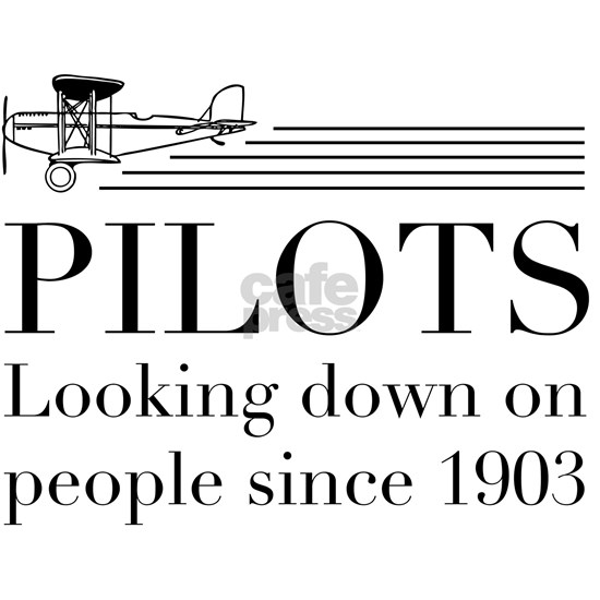 Pilots looking down people
