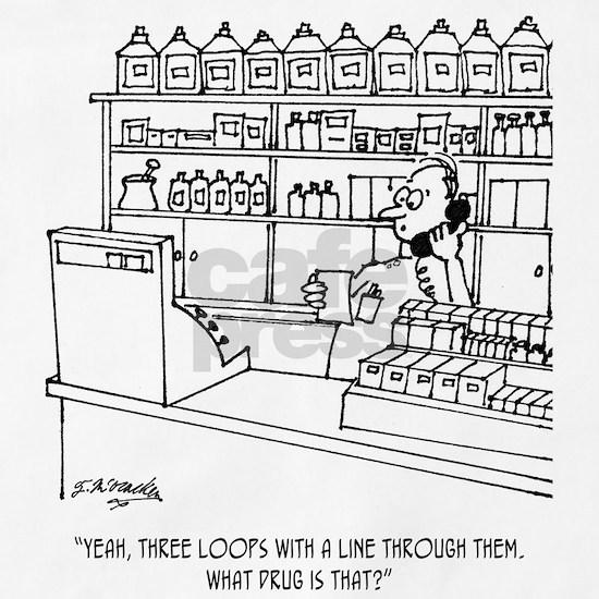 Pharmacist Cartoon 3109 Apron by McHumor Medical Cartoons