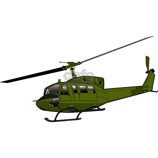 Huey Helicopter UH-1 Color