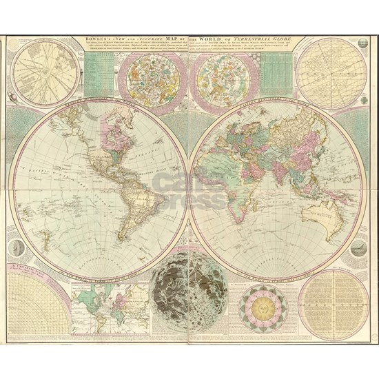 Vintage Map of The World (1780) 2