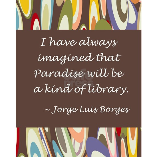 paradise library Borges
