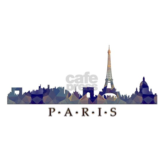 Mosaic Skyline of Paris France