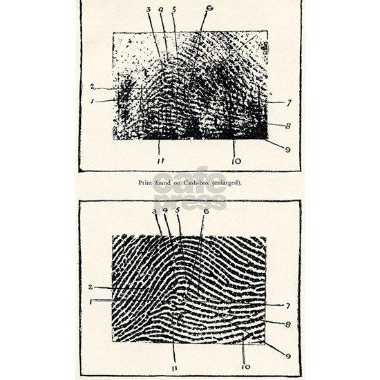 Fingerprint evidence, 1905 murder case