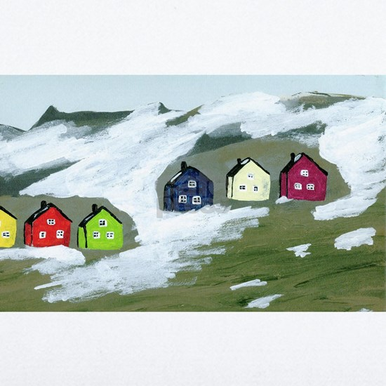 Colorful Winter Houses