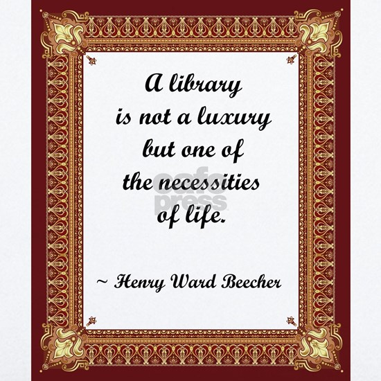 library not a luxury