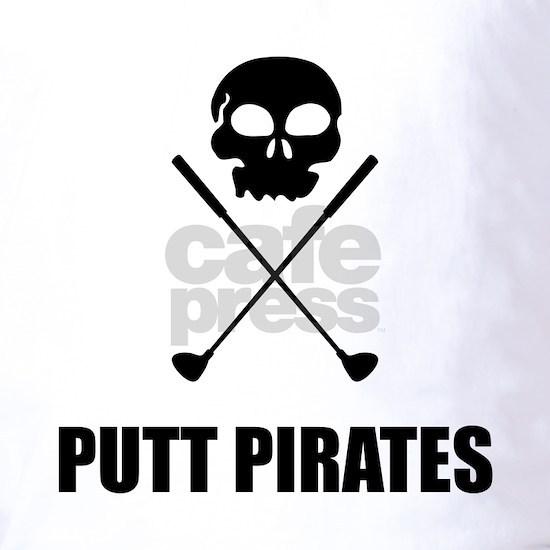 Golf Skull Crossed Putt Pirates