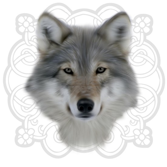 Wolf with Saxon Motif
