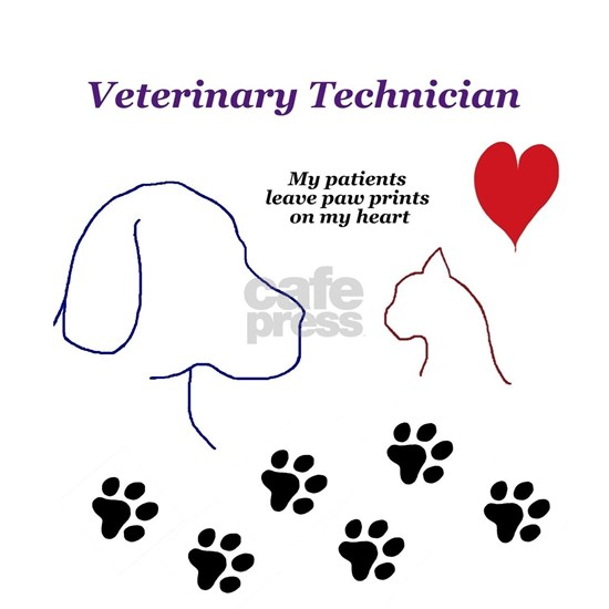 Veterinary Technician-Paw Prints on My Heart