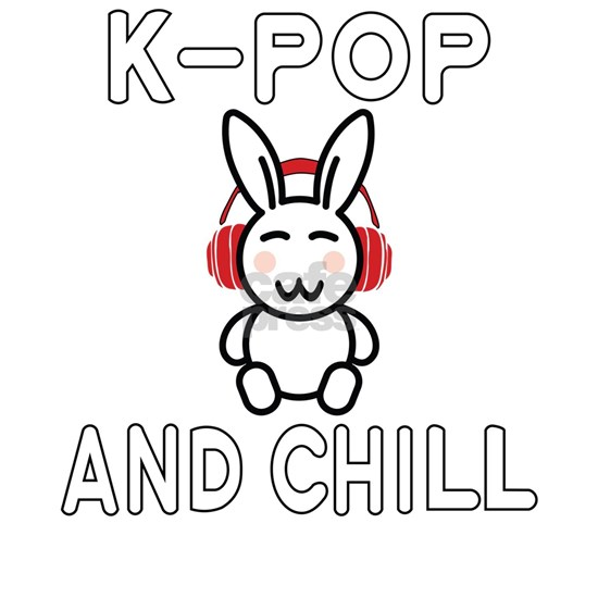 K-Pop Rabbit and Chill Design for KPop Fans