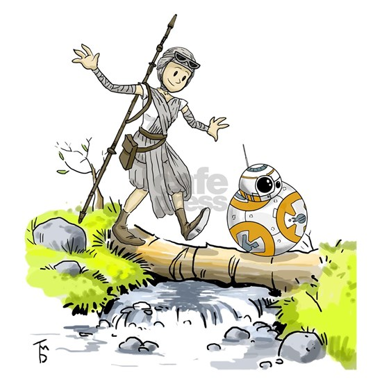 BB8 and Rey Crossover