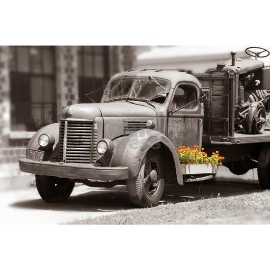Vintage Old Truck Color Splash