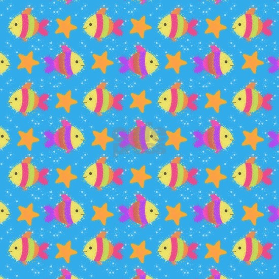 Cute Fish And Starfish Pattern