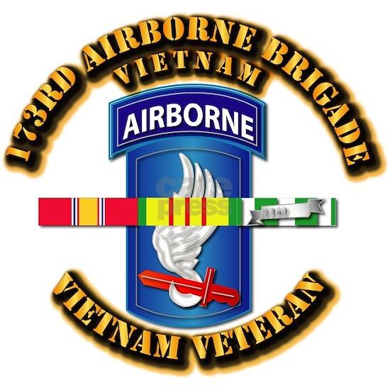 T-Shirt - Army -  173rd Airborne Brigade w SVC Ri
