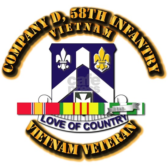 Army - Company D, 58th Infantry w SVC Ribbons