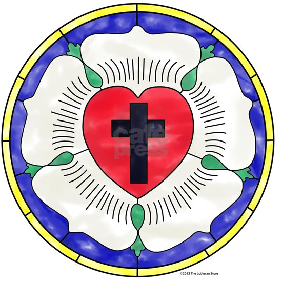 Luther Seal Stained Glass Motif