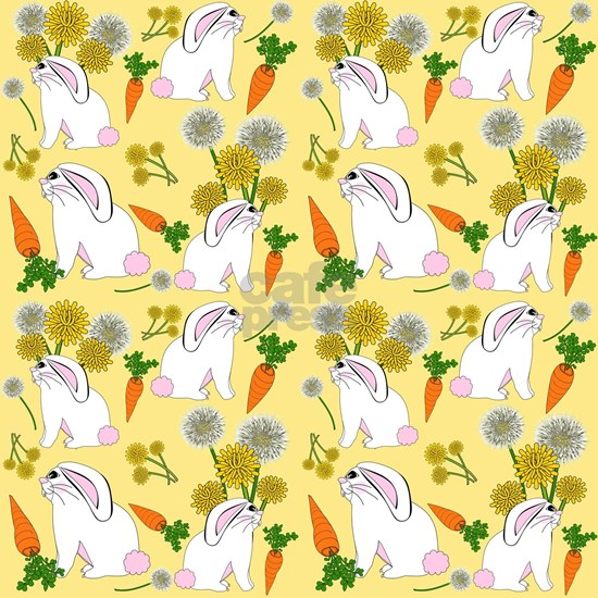 Bunnies and Rabbit Food on Yellow
