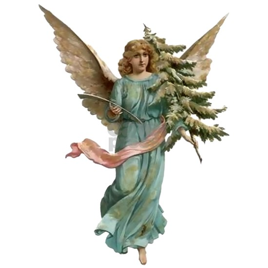 Vintage Angel  with Tree