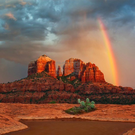 Rainbow In Grand Canyon