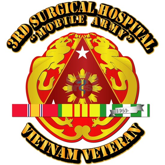 Army - 3rd Surgical Hospital w SVC Ribbon
