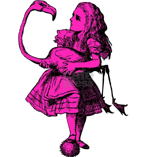 Alice and Flamingo Inked Pink Fill