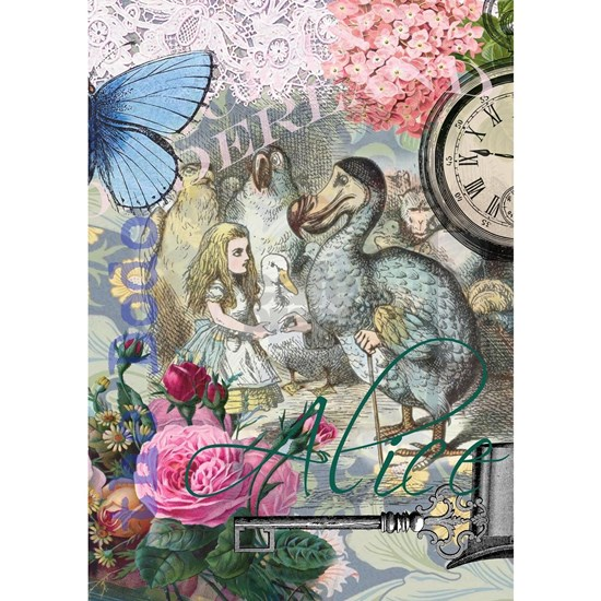 Alice in Wonderland Dodo  Vintage Pretty Collage