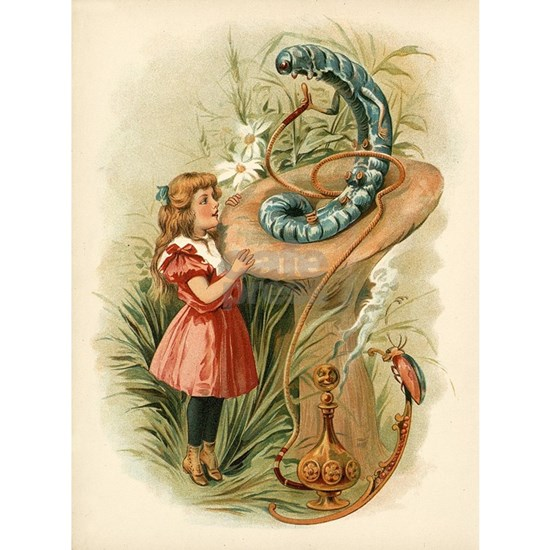 Alice and the Caterpillar Victorian art