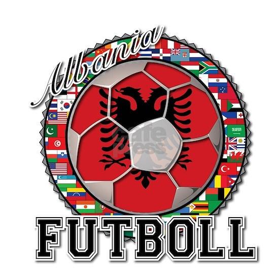 Albania Flag World Cup Futboll Ball