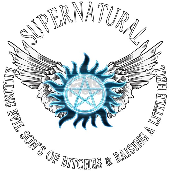 Supernatural  protection Symbal Wings 03