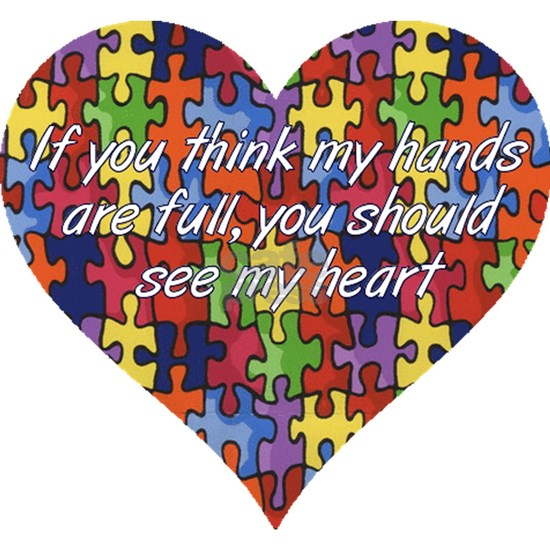 Autism Hands full, See my heart