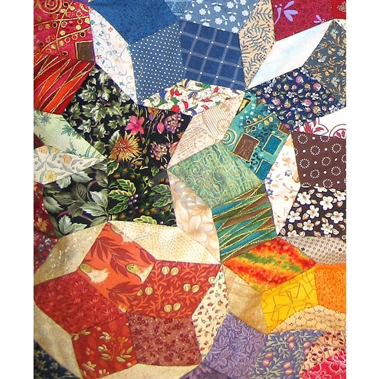 Tumbling Blocks Patchwork Quilt