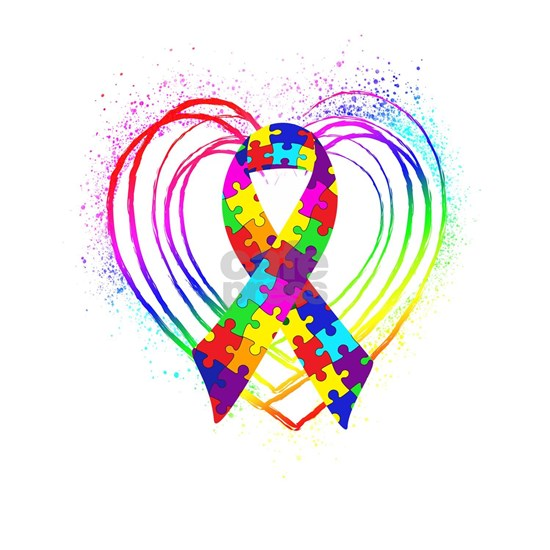 Autism Ribbon on Heart