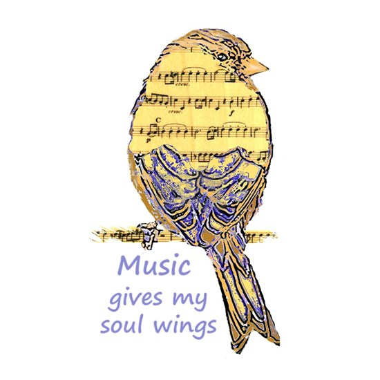 Music Gives my Soul Quote Wings