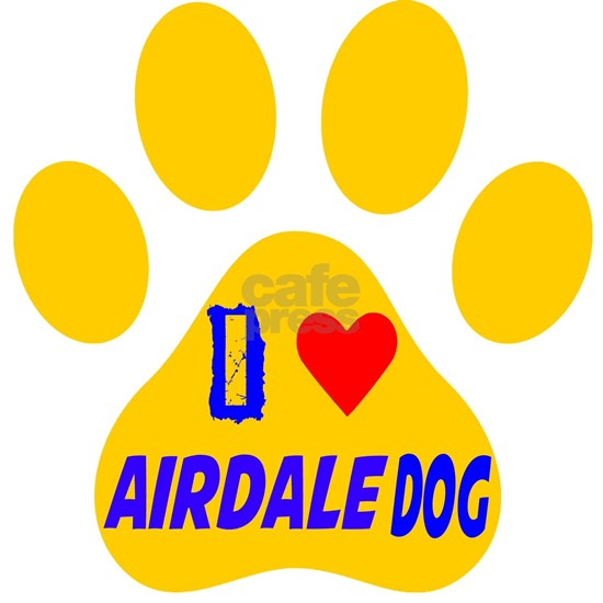 I Love Airdale Dog