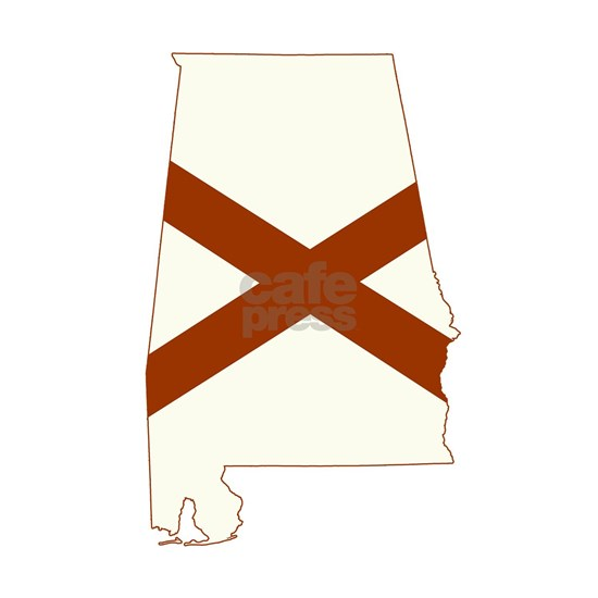 Alabama State Map and Flag